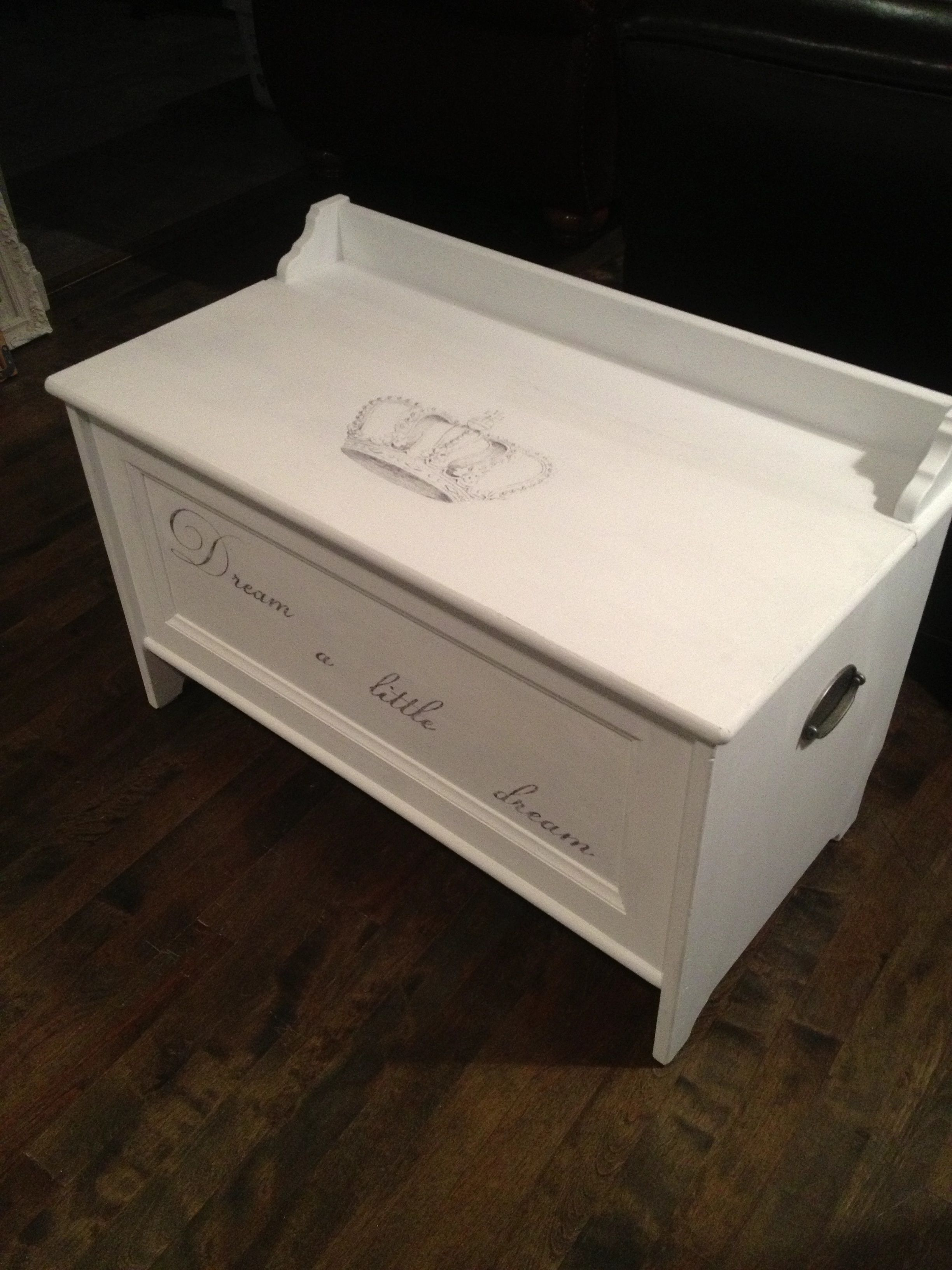 Ikea Hack Leksvik Wooden Storage Chest Painted With As Chalk