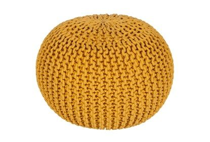 Pouf-Cabled Sunflower #sunflowerbedroomideas