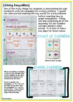 Expressions Equations Interactive Notebook Math Expressions Algebra Interactive Notebooks Algebra Resources