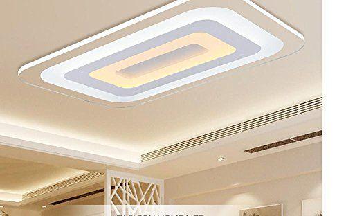 MEIREN Moderne LED Leuchten Mit Dimmer Fernbedienung Beleuchtung Für  Wohnzimmer Schlafzimmer Bibliothek Restaurant , 65