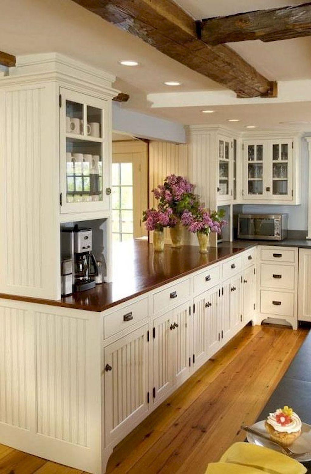 50 Awezome Farmhouse Kitchen Cabinet Makeover Design Ideas Küchen