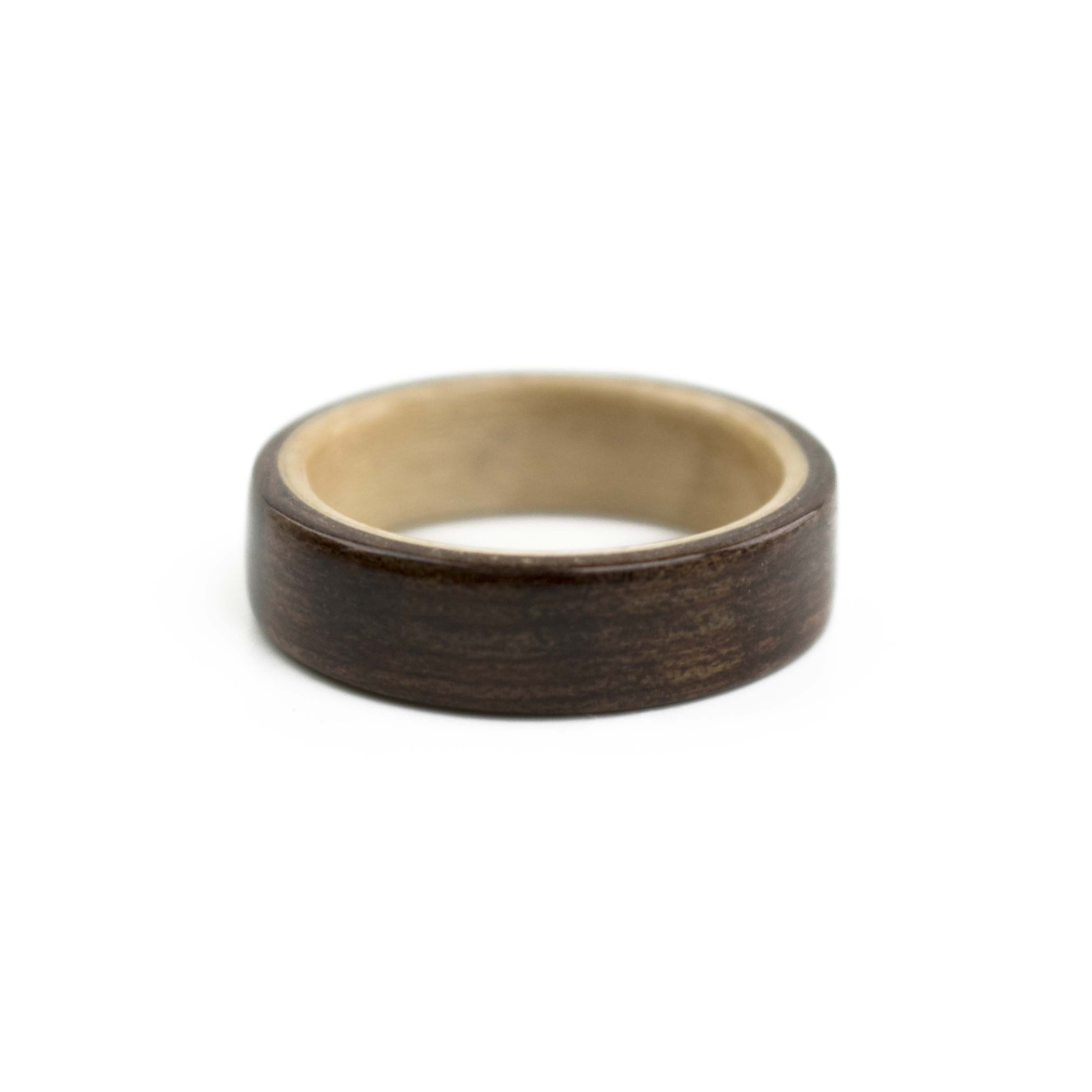 maple with ring shop tiger warren eye ebony sq wood copper inlay rings and
