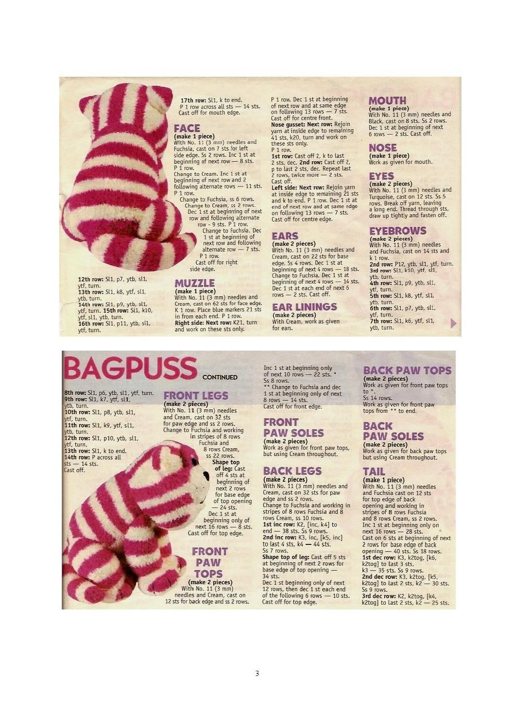 Knit alan dart bagpuss (sitting)   Alan Dart Patterns   Pinterest ...