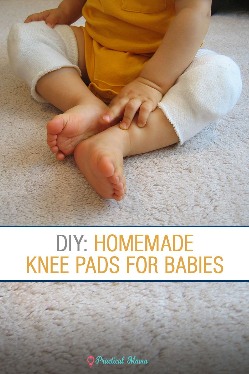 Homemade Knee Pads For Crawling Babies Crawling Baby