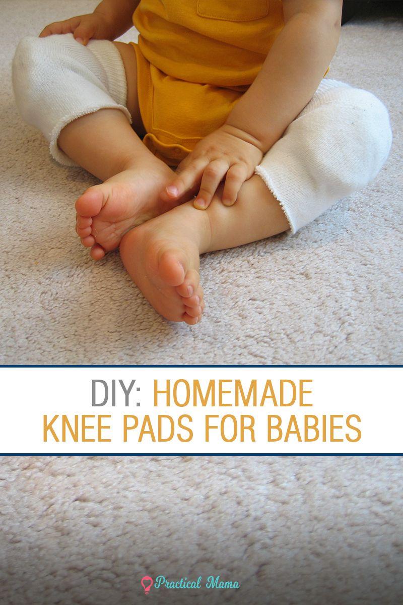 Diy homemade knee pads for crawling babies baby knee