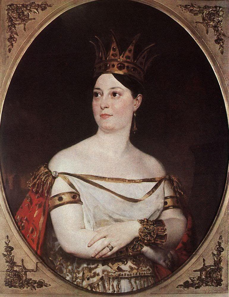 Giuseppina Ronzi de Begnis, como Semiramide, por Karl Brullov