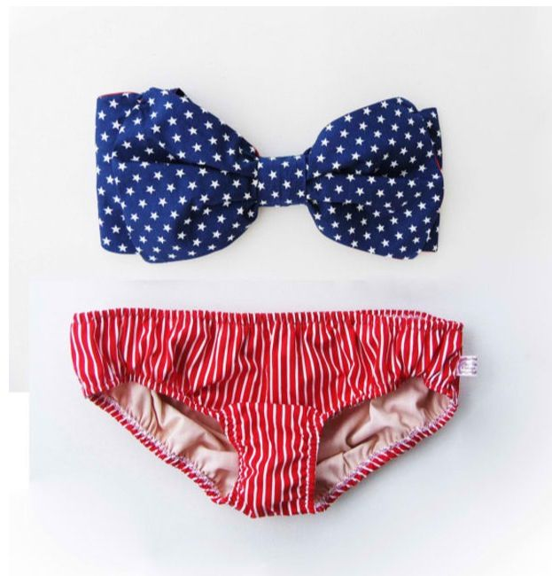 American Flag Bathing Suit, but Classy.