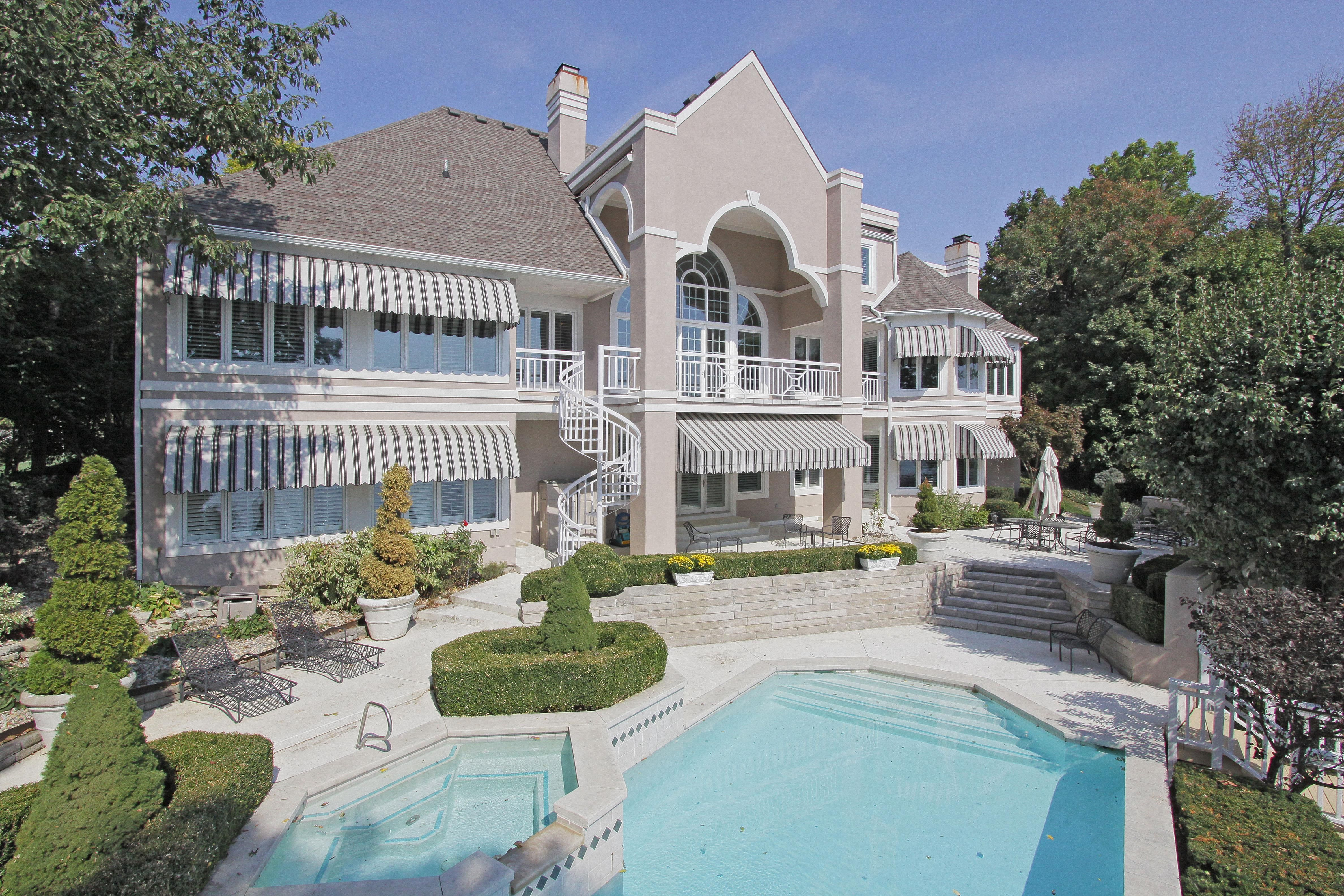 The Backyard Of This Lovely Geist Water Front Home Now 1 250 000 Luxury Real Estate Waterfront Homes Mansions