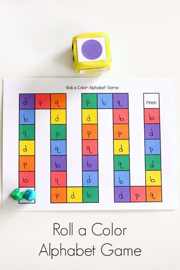 Color Theme Alphabet Game For Preschool Letter Learning Board