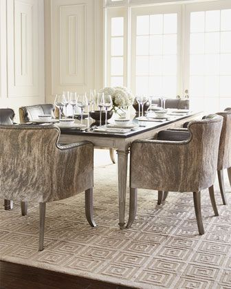 Manchester Dining Table Pippin Hairhide Chair By Old Hickory Tannery At Horchow