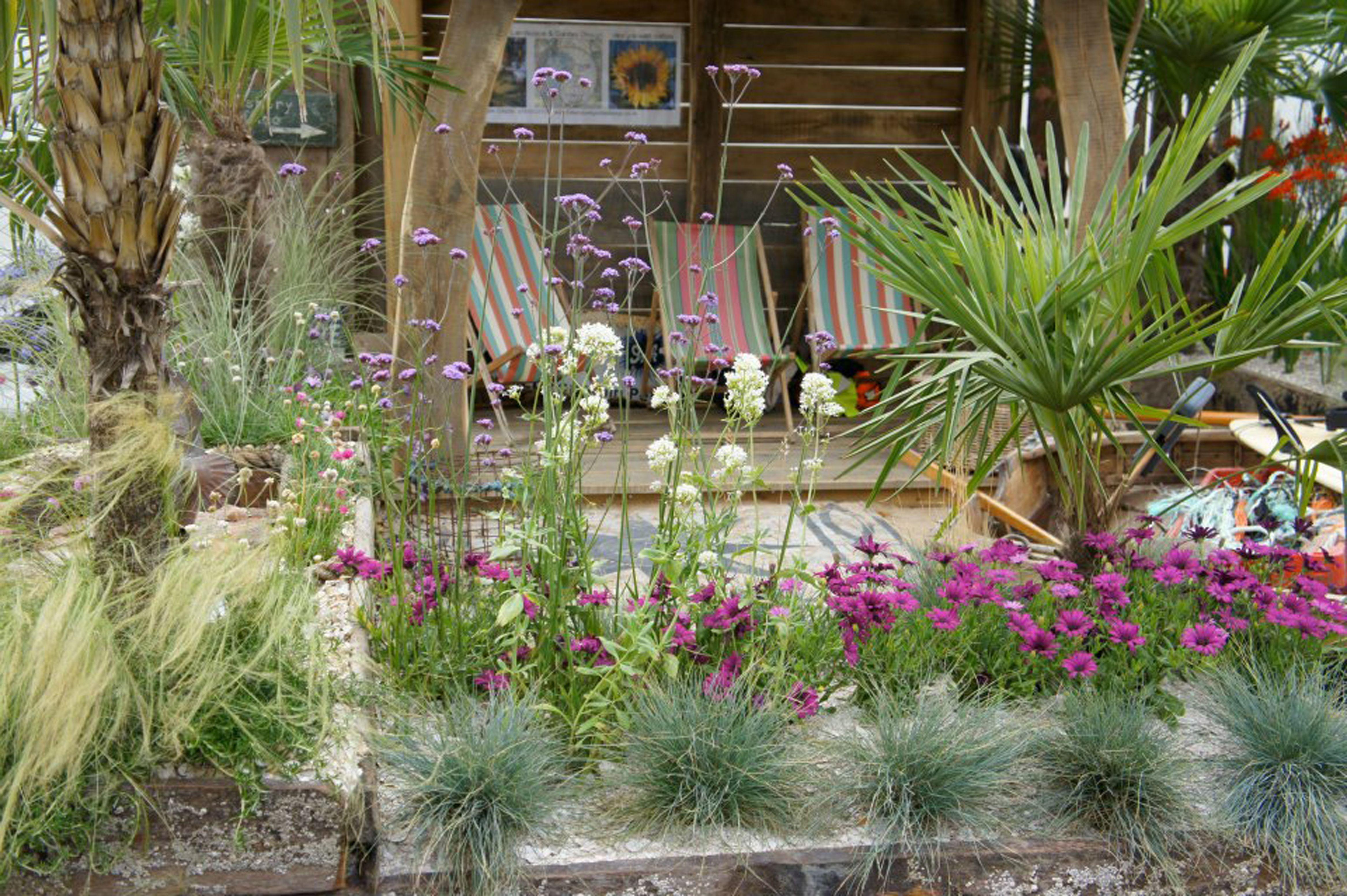 Gold award-winning beach themed show garden for Severndale School ...