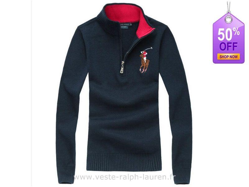 a920254e3aade8 boutique femmes nouveau Ralph Lauren Pulls chute hiver fashion polo elegant  choi cheval taille bleu marine