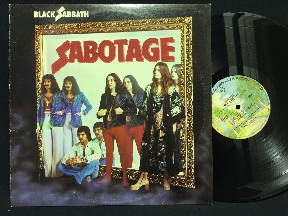 Black Sabbath Sabotage Warner Bros Bs 2822 Lp Vinyl Record Black Sabbath Vinyl Records Vinyl Music