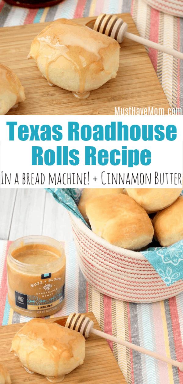 Copycat Texas Roadhouse Rolls In Bread Machine Recipe With Cinnamon Honey Spread