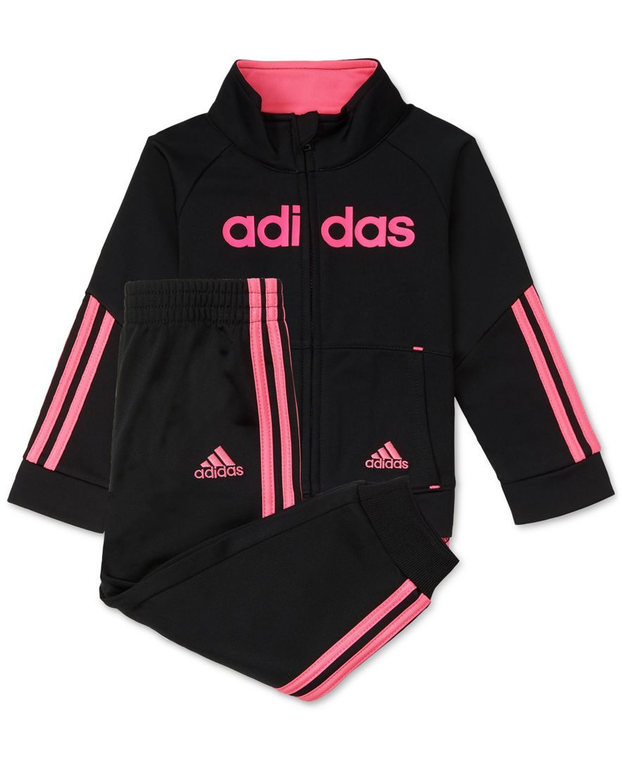 bddaa01dfb adidas 2-Pc. Jacket & Jogger Pants Set, Toddler & Little Girls (2T ...