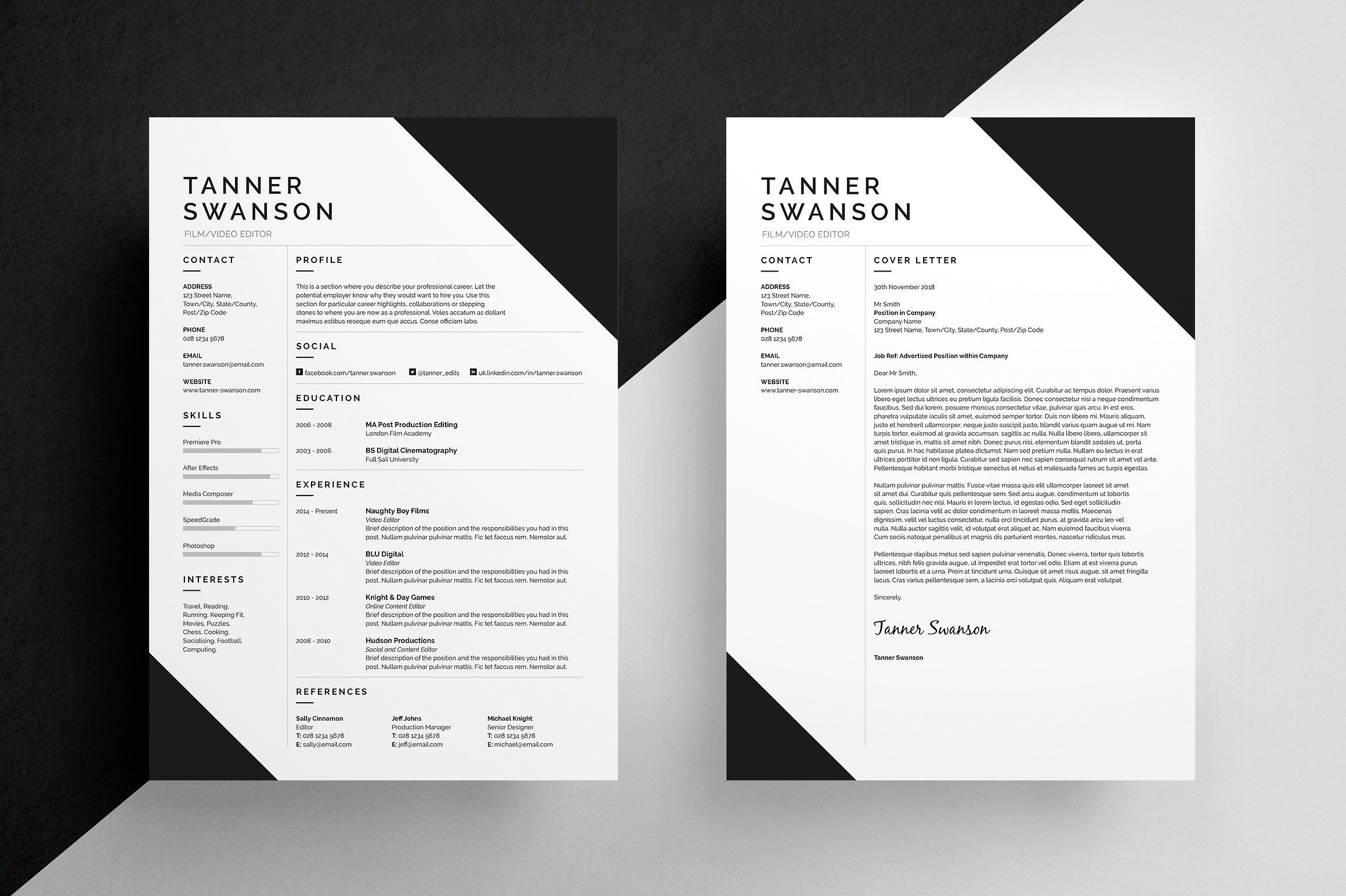 Resume/CV Tanner Resume writing examples, Cv template