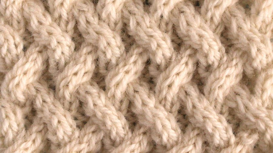 How To Knit The Lattice Cable Stitch Pattern Knitting Patterns