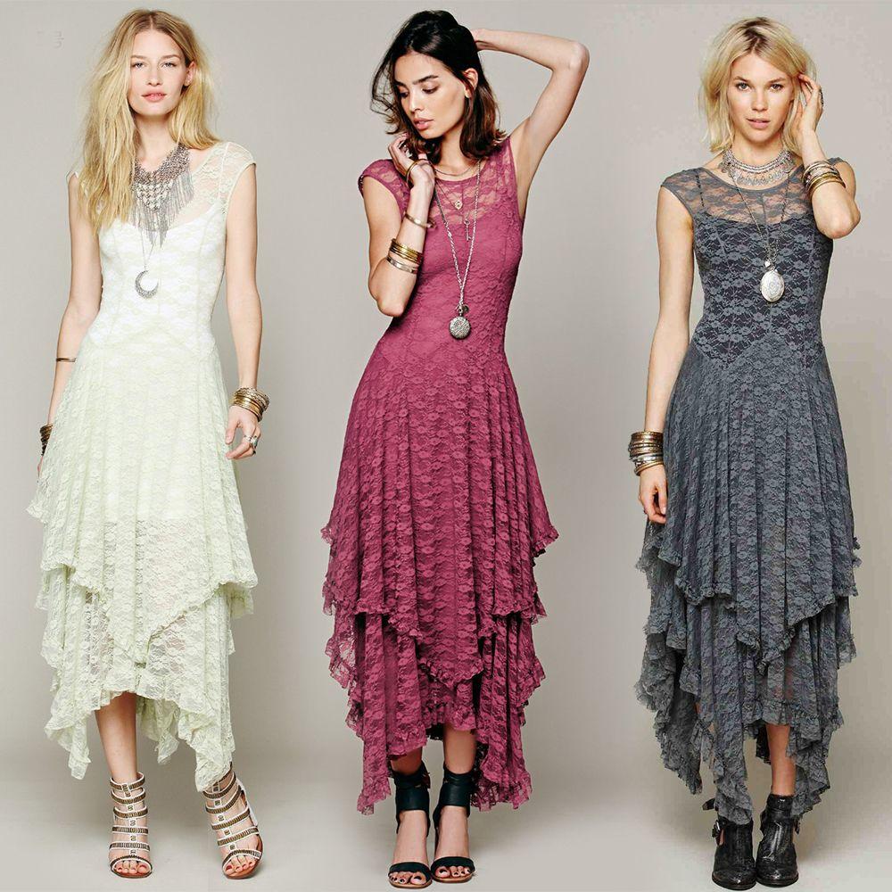 36d5bf2c02c6b Layered Boho Lace Maxi Dresses in 2019 | Fashion - Dresses & Skirts ...