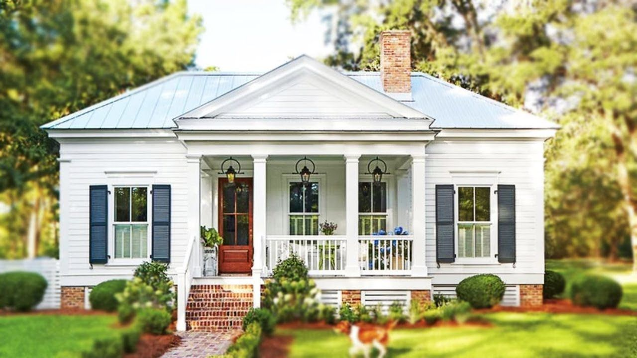 Sq Ft White Cottage Has Small Space But Major Southern Charm