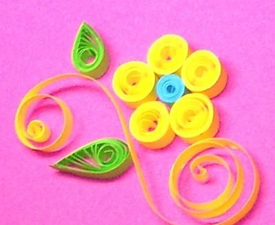 Crafts For Kids Flower Quilling For Beginners Stepwise