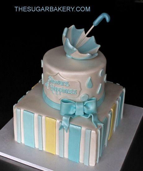 Custom Baby Shower Cakes Happy Umbrella Day Pinterest Shower