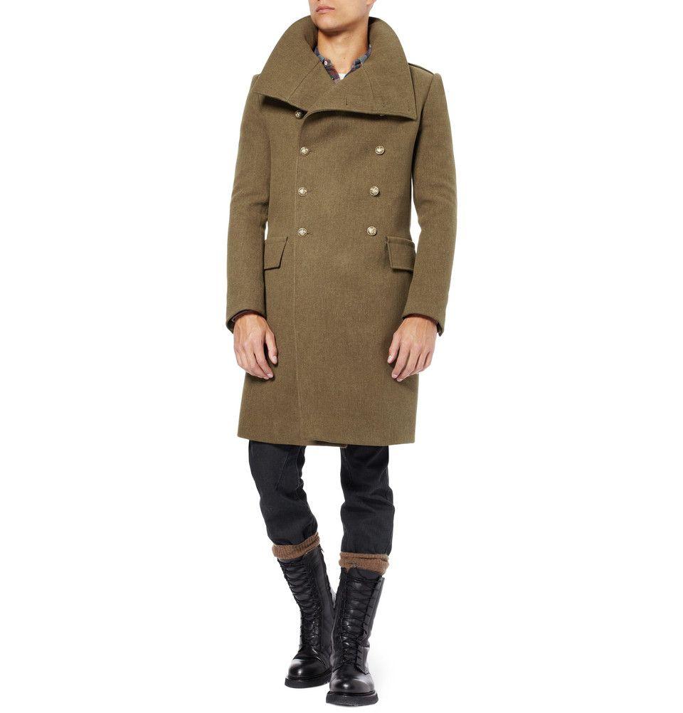 really comfortable picked up performance sportswear Balmain - Asymmetric Military Coat   Designer winter coats ...