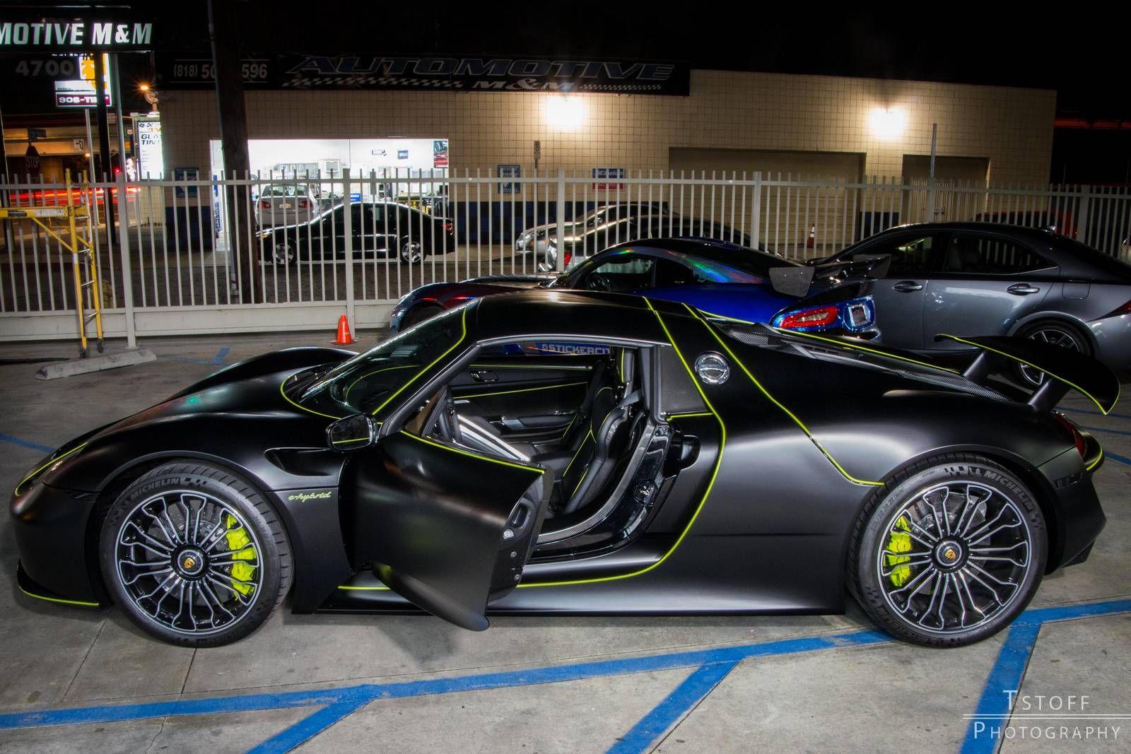 Owners Club Stealth Black Porsche 918 Spyder Black Porsche Porsche 918 Porsche