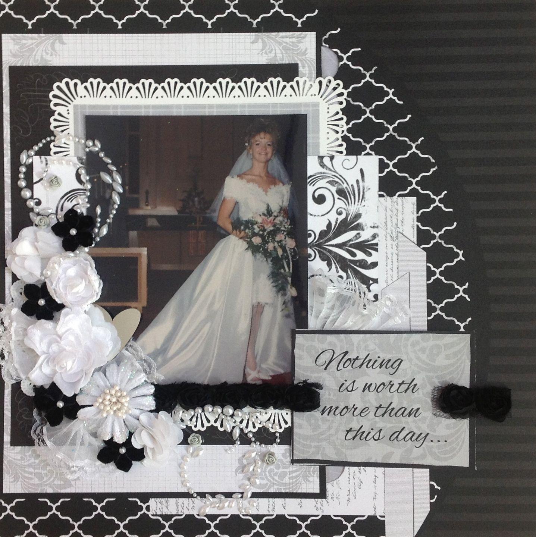 Wedding Wedding scrapbooking layouts