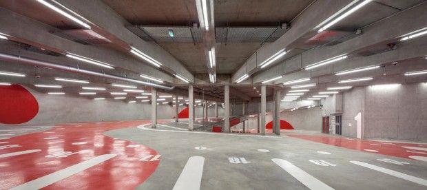 parking enterr vaisseau m re par architecture anonyme pour paris habitat archi future. Black Bedroom Furniture Sets. Home Design Ideas