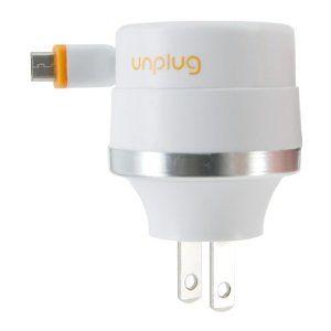 眼圈���c_UnplugTravelChargerRetractableCable+USB1000mA|エ,榊