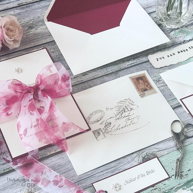 How To Make...Easy Bellefleur Bow Wedding Stationery | Wedding ...