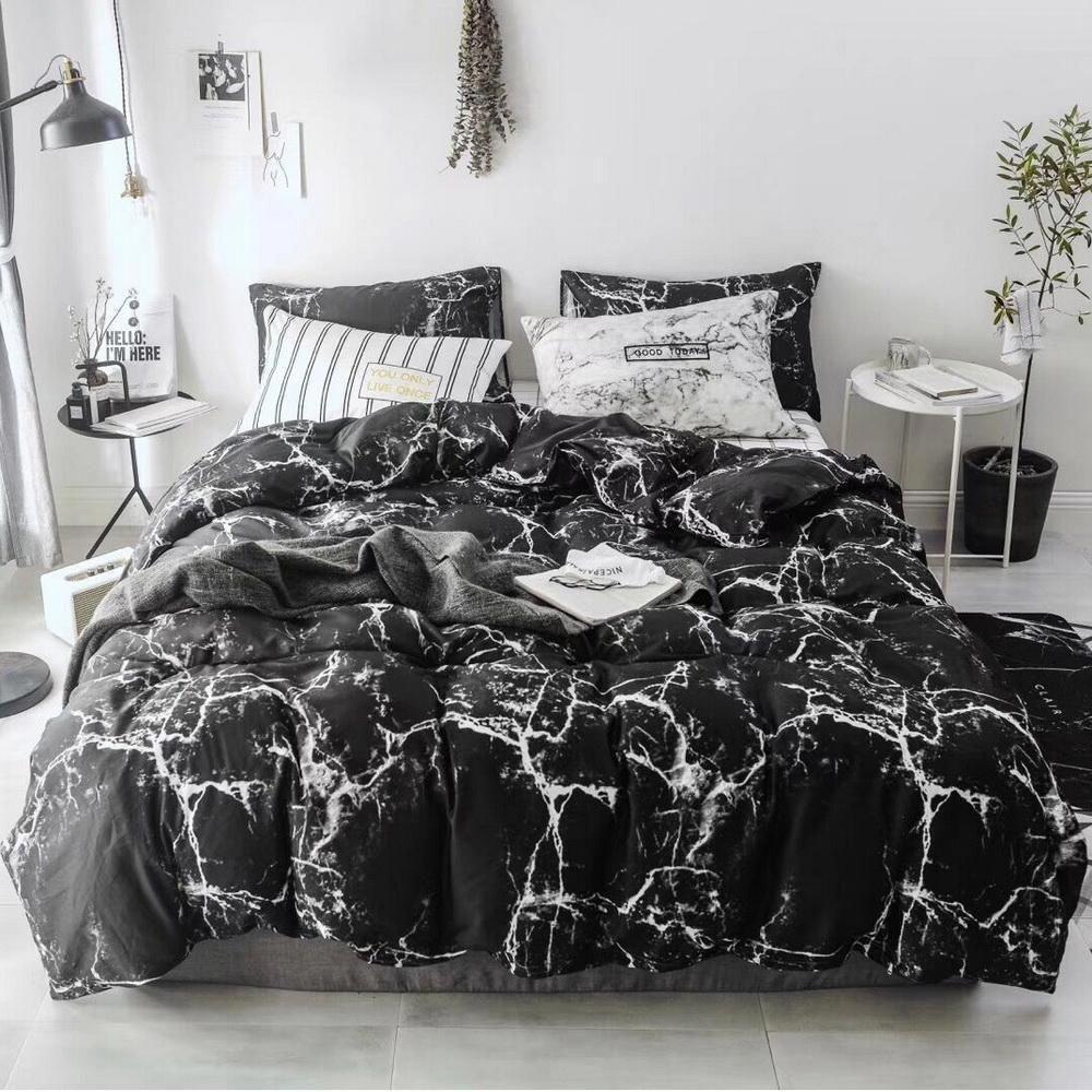 Smoofy 100 Cotton Duvet Cover Black Marble Sytle Marble Duvet