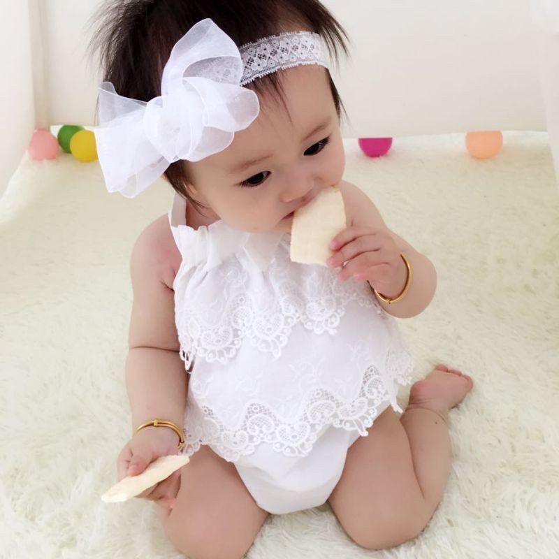 Newborn Clothing 2016 Baby Girl Cute Bodysuits Lace Outfits ...