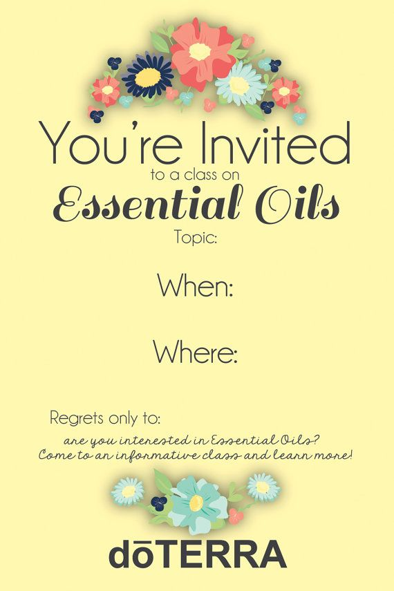 4x6 doTERRA class invitation INSTANT DOWNLOAD by MabelStreet 600