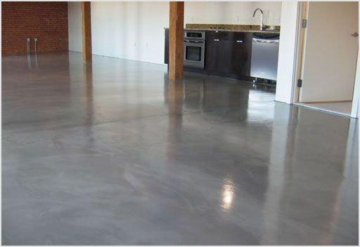 Polished Concrete Floors Residential Condo Unit Floor Calcium Chloride Test