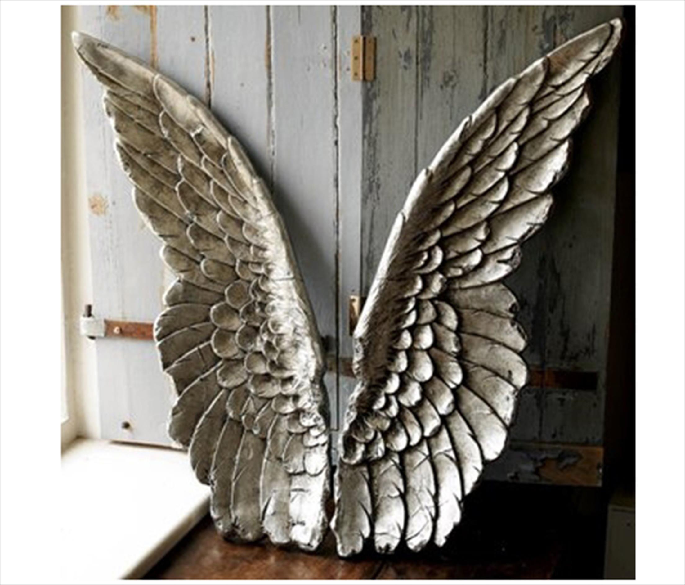 Salvaged Metal Angels Wings
