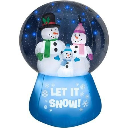 Snowman Snow Family Inflatable Globe Holiday Yard Decoration
