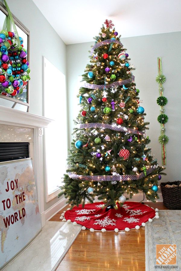 Christmas Tree Decorating Ideas The Home Depot Gold Christmas Tree Decorations Christmas Tree Decorations Colorful Christmas Tree
