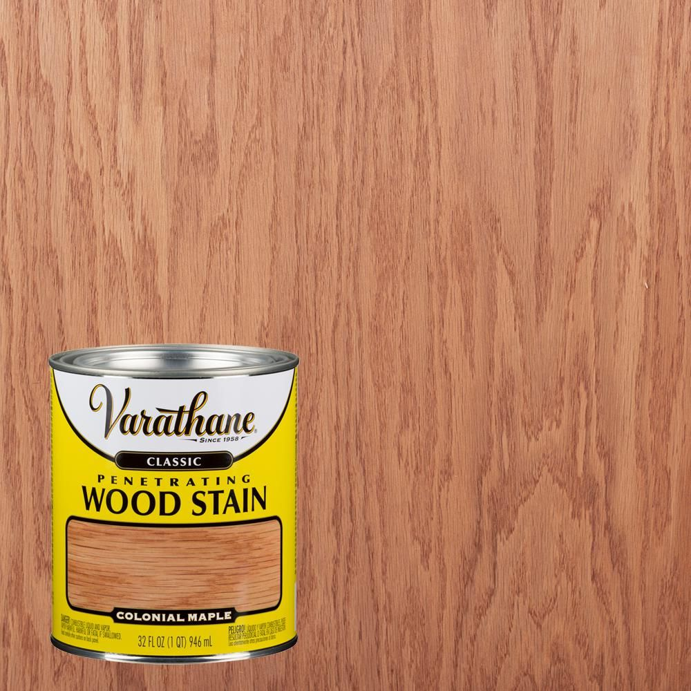 Varathane 1 Qt Colonial Maple Classic Wood Interior Stain 2 Pack 339707 In 2020 Interior Wood Stain Wood Interiors Maple Stain