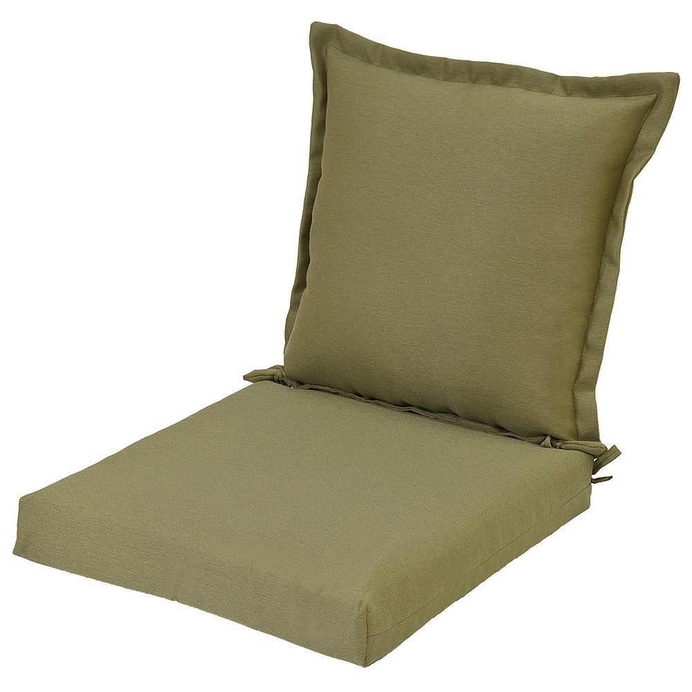 Plantation patterns outdoor pillowback dining chair cushion beig