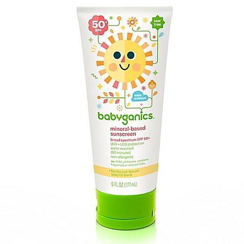 Babyganics 6 Oz 50 Spf Sunscreen Lotion Babyganics Baby Sunscreen Sunscreen Lotion