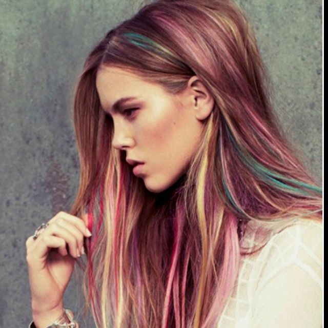Ash Blonde With Pastel Highlights And Ash Blonde Highlights With