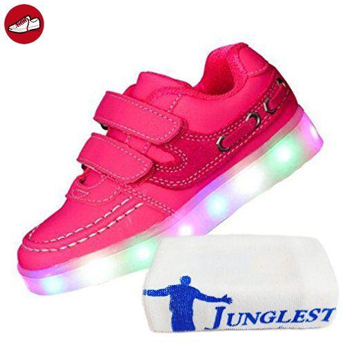 (Present:kleines Handtuch)Rot EU 44, Lade mode JUNGLEST® leuchten LED Turnschuh Männer athletische Top B