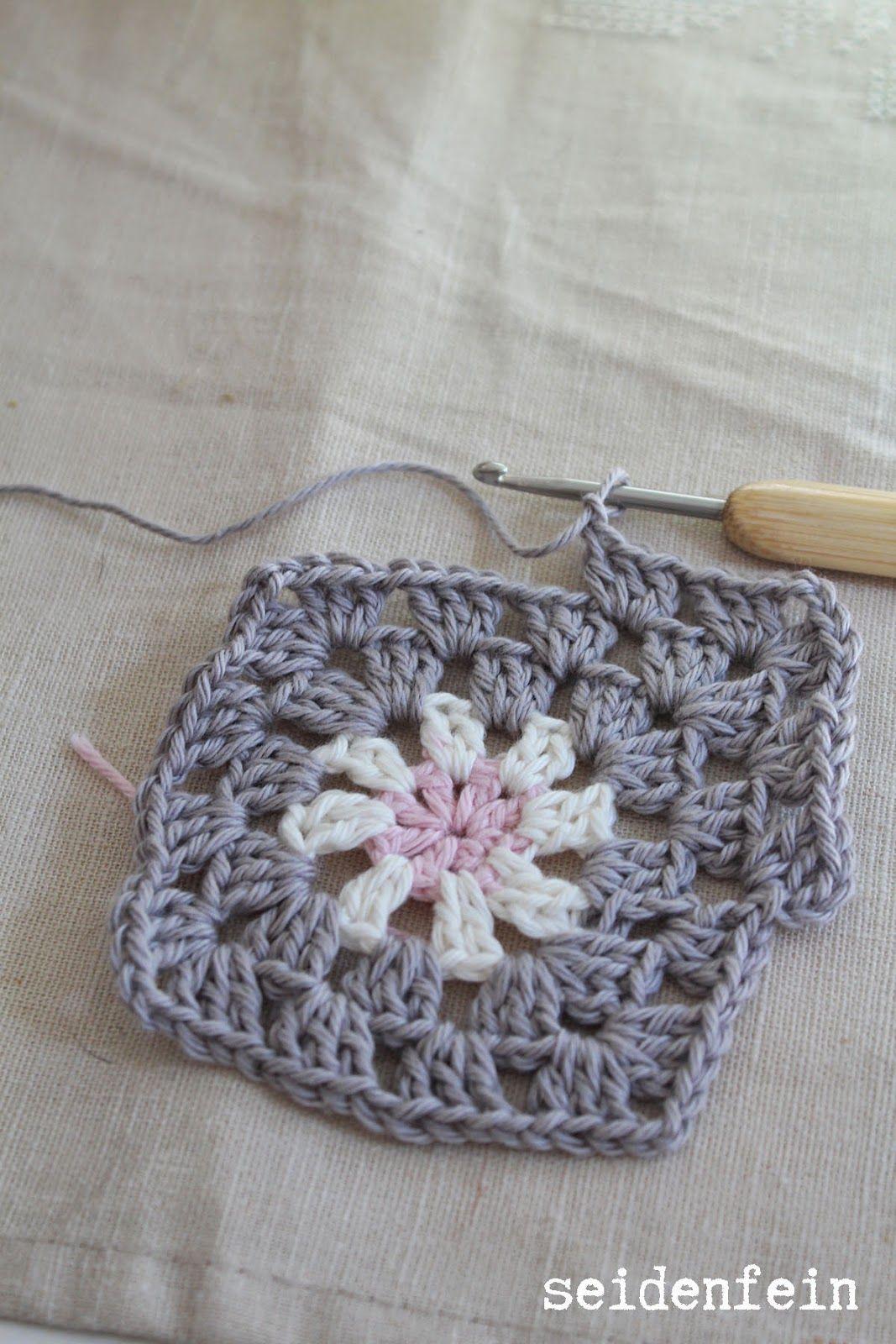 Grannys Grannydecke Häkeln Rosen Dekoblog Crochet Tutorial