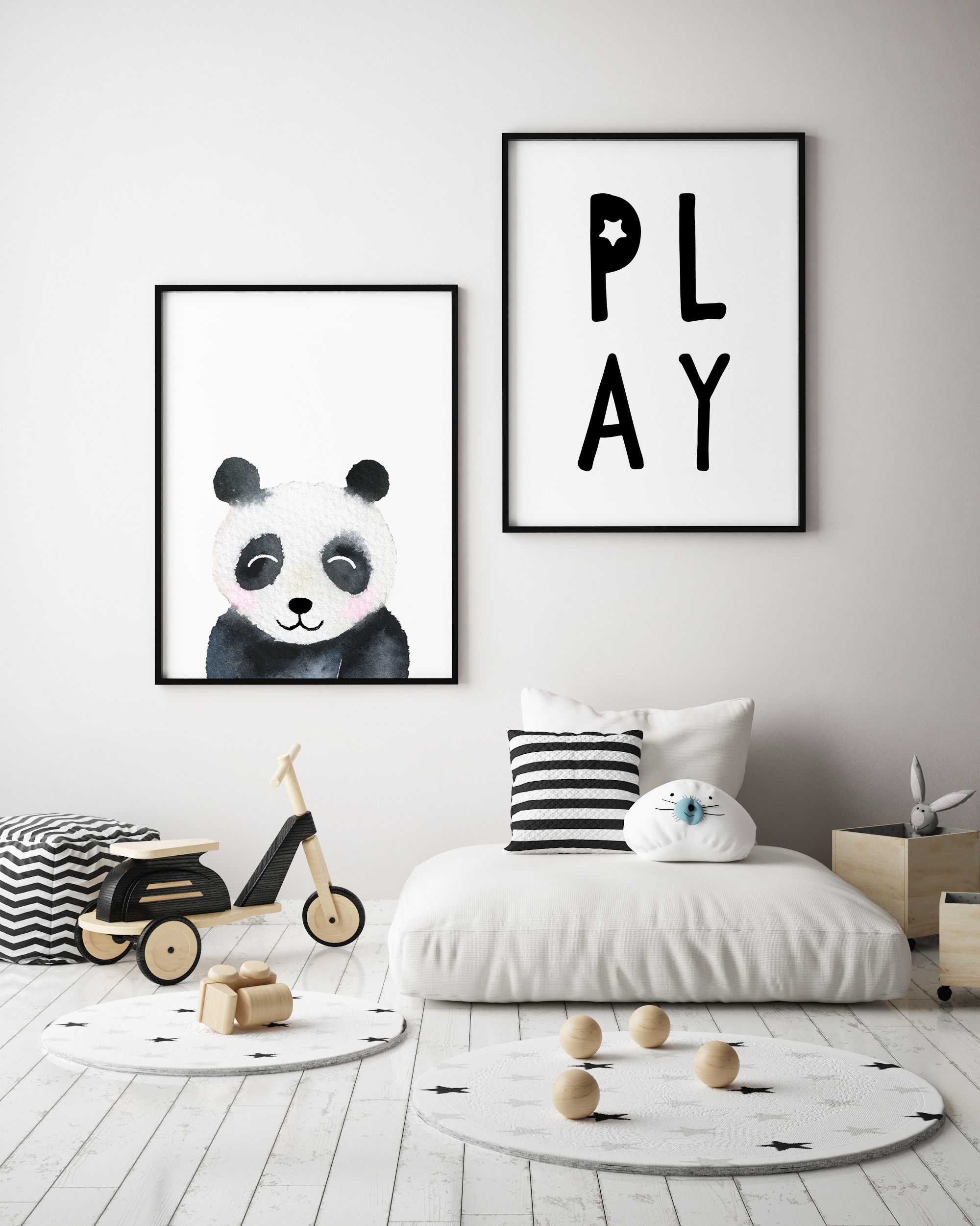 Panda Nursery Print Decor Children S Ideas