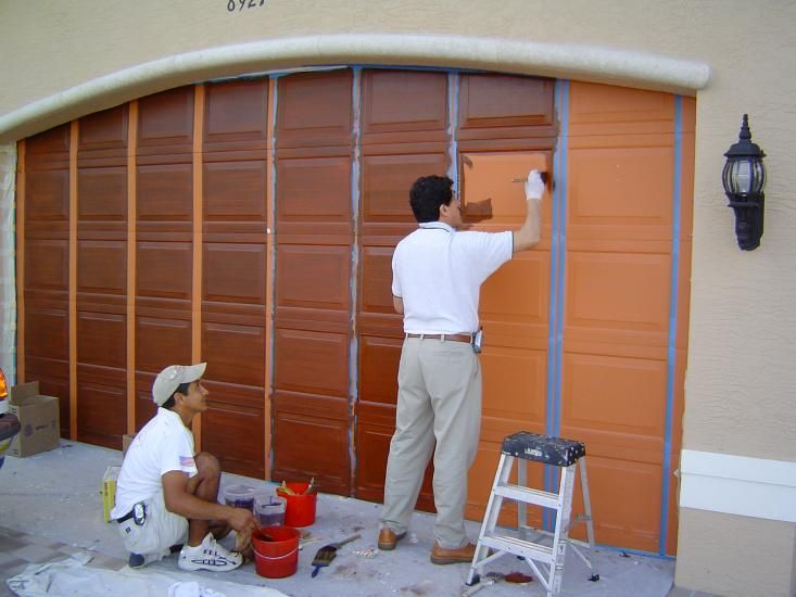 Exterior Wood Graining Portfolio Boynton Beach Benchmark Painting Garage Paint Colors Garage Door Paint Garage Paint