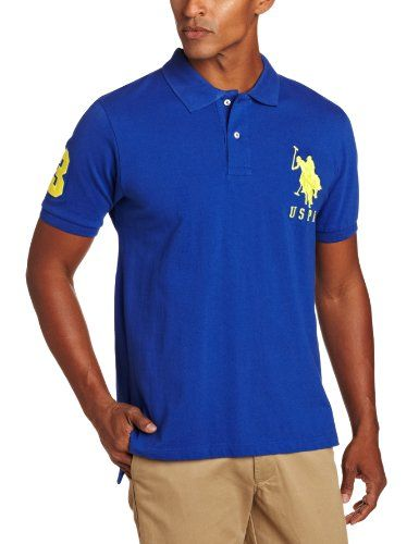 805fedc2 U.S. Polo Assn. Men's Solid Polo With Big Pony, Cobalt Blue, Large U.S.