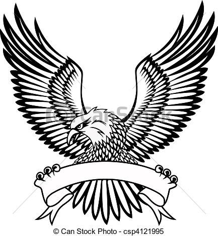 vector eagle with emblem stock illustration royalty free rh pinterest ie free eagle vector clipart free eagle vector graphics
