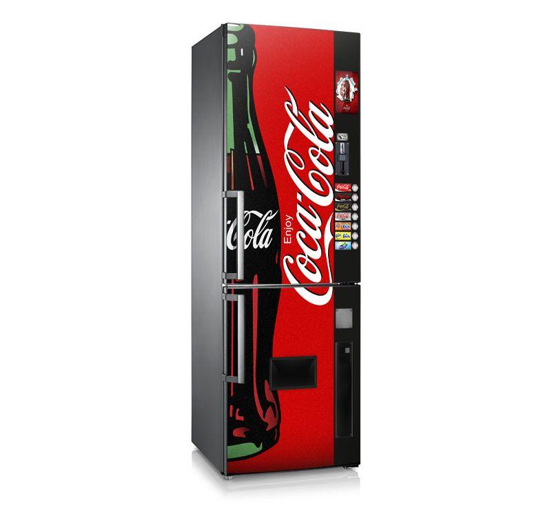 Original dise o de vinilo para nevera frigor fico coke machine decora tu decoracion - Frigorificos de diseno ...