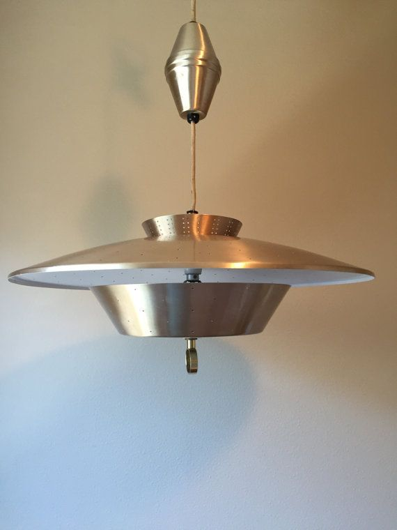 Retro Mid Century Modern Retractable Light Fixture Pendant Ejs